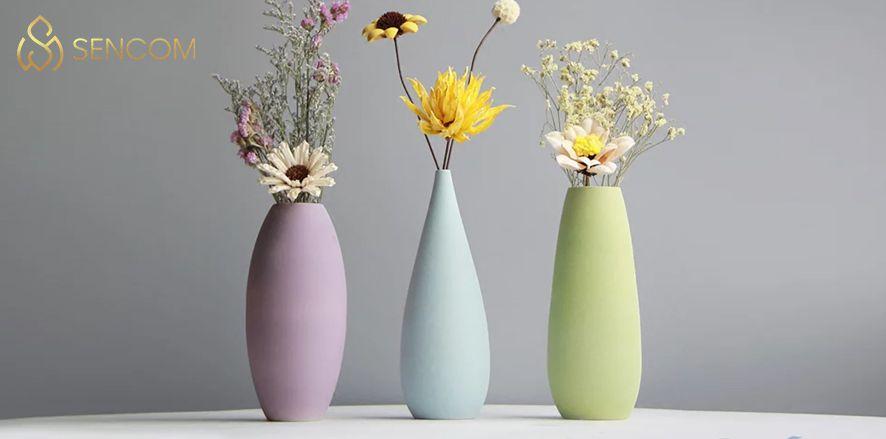 Bình hoa trang trí có đẹp không? Cùng Sencon tìm hiểu 10 mẫu bình hoa đẹp cao cấp trang trí cho không gian nội thất mới mẻ...