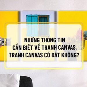 Nếu bạn đang băn khoăn tìm hiểu tranh Canvas có đắt không thì hãy cùng Sencom tham khảo chi tiết bài viết ngay sau đây nhé...